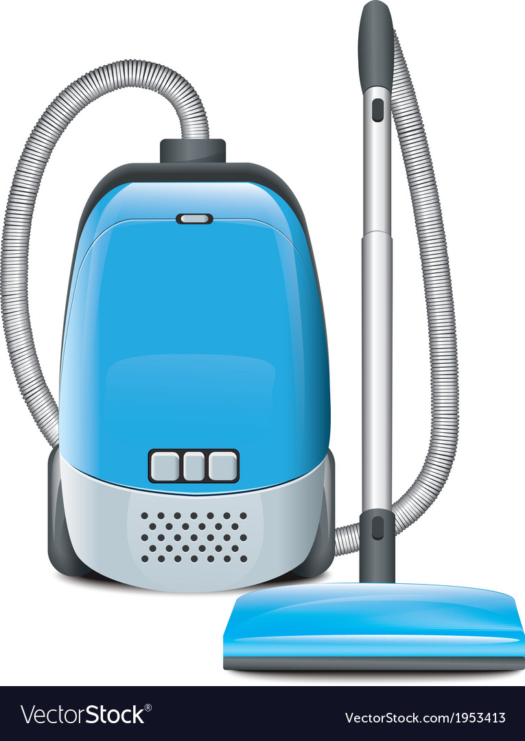 Blue vacuum cleaner vector | Price: 1 Credit (USD $1)
