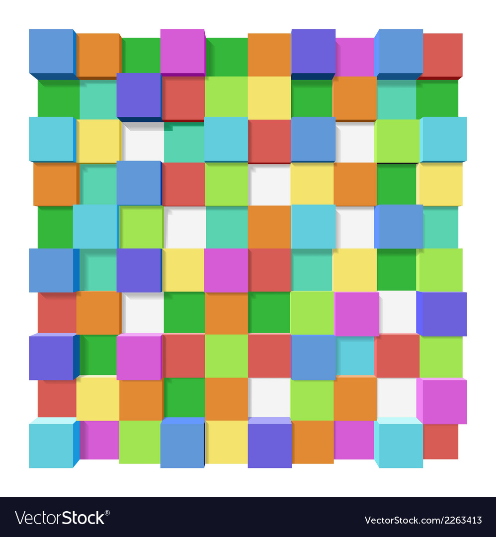 Cubes at different levels as an abstract vector | Price: 1 Credit (USD $1)