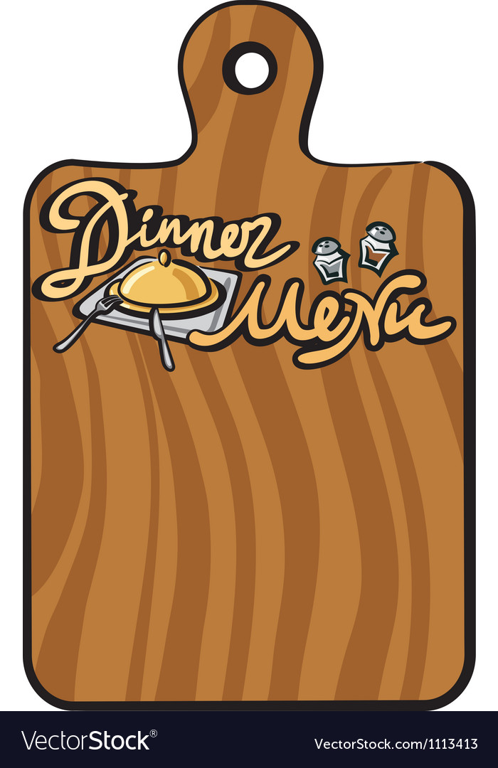 Dinner menu vector | Price: 1 Credit (USD $1)