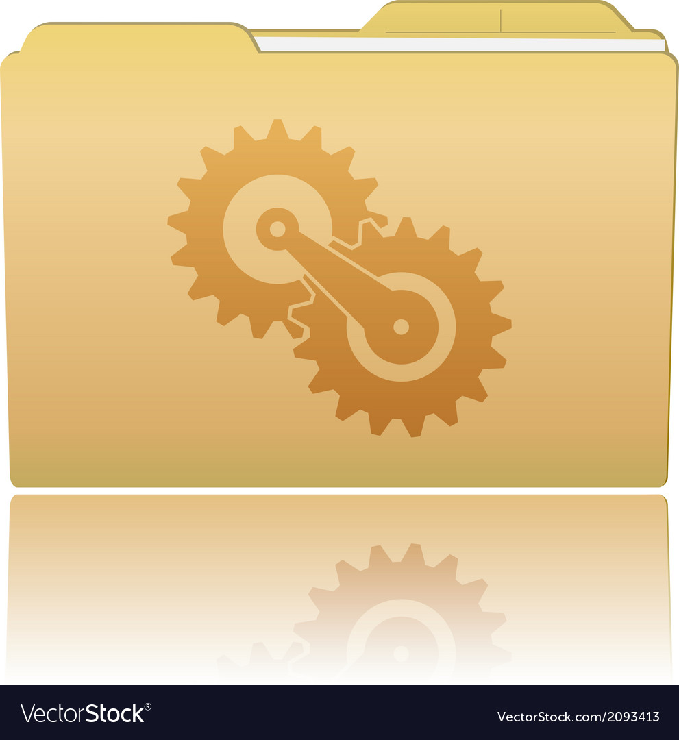Folder with gearwheels vector | Price: 1 Credit (USD $1)