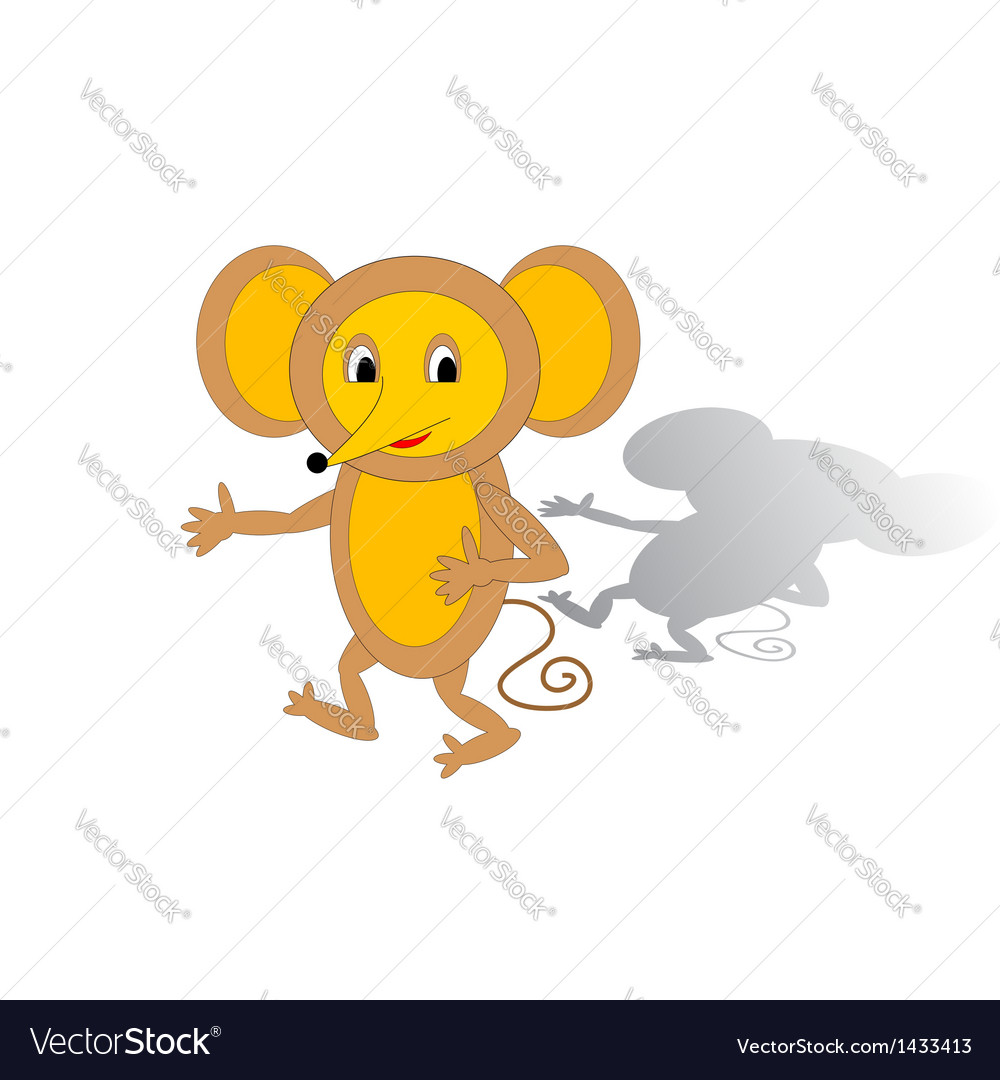 Funny cartoon mouse vector | Price: 1 Credit (USD $1)