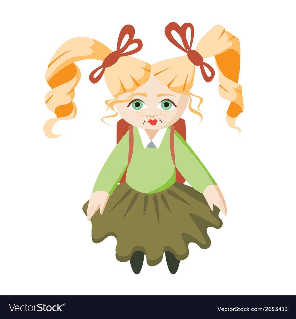 Girl school student vector | Price: 1 Credit (USD $1)