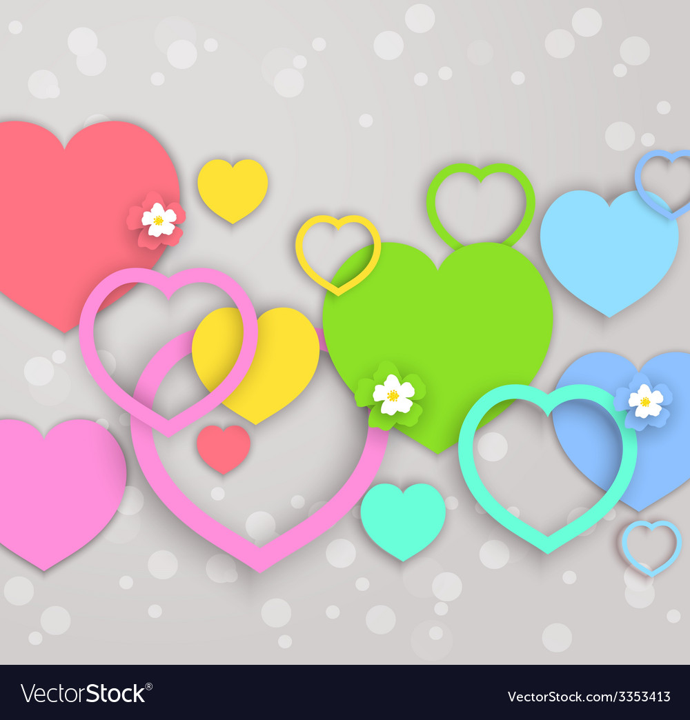 Hearts for valentines day vector | Price: 1 Credit (USD $1)