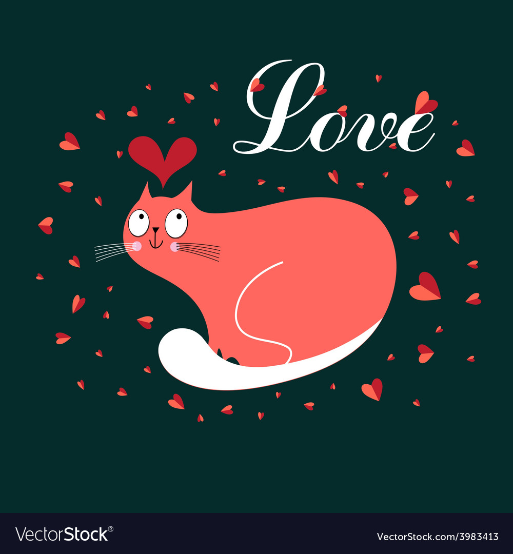 In love with a cat vector | Price: 1 Credit (USD $1)