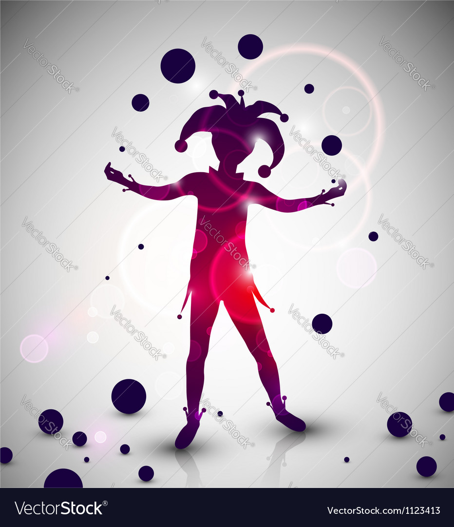 Jester juggler vector | Price: 1 Credit (USD $1)