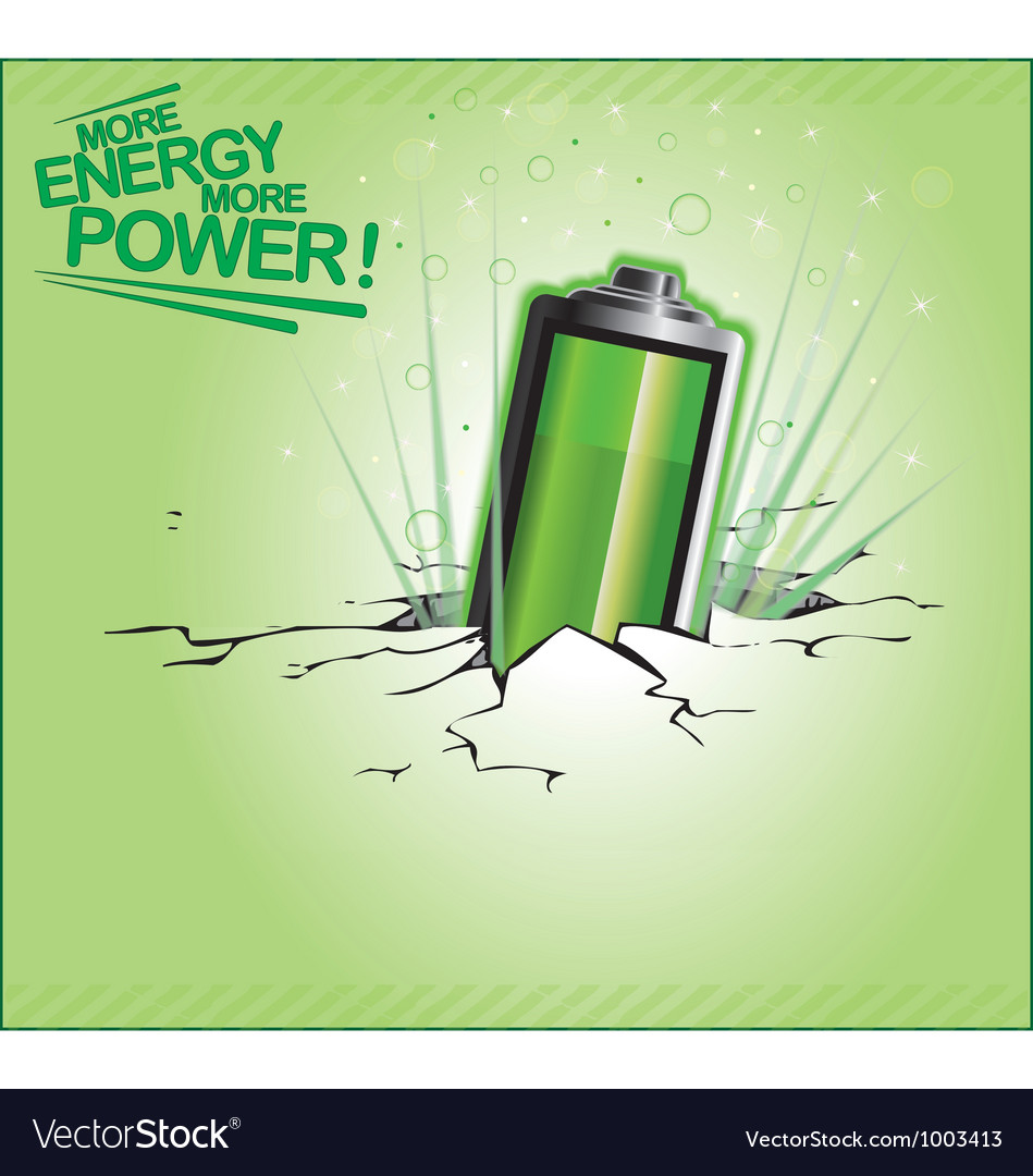 More energy more power vector | Price: 1 Credit (USD $1)