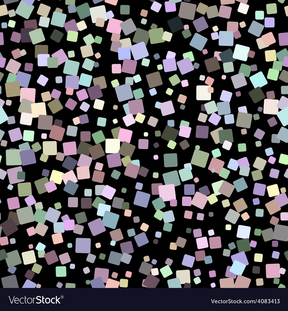 Mosaic seamless pattern on black background vector | Price: 1 Credit (USD $1)