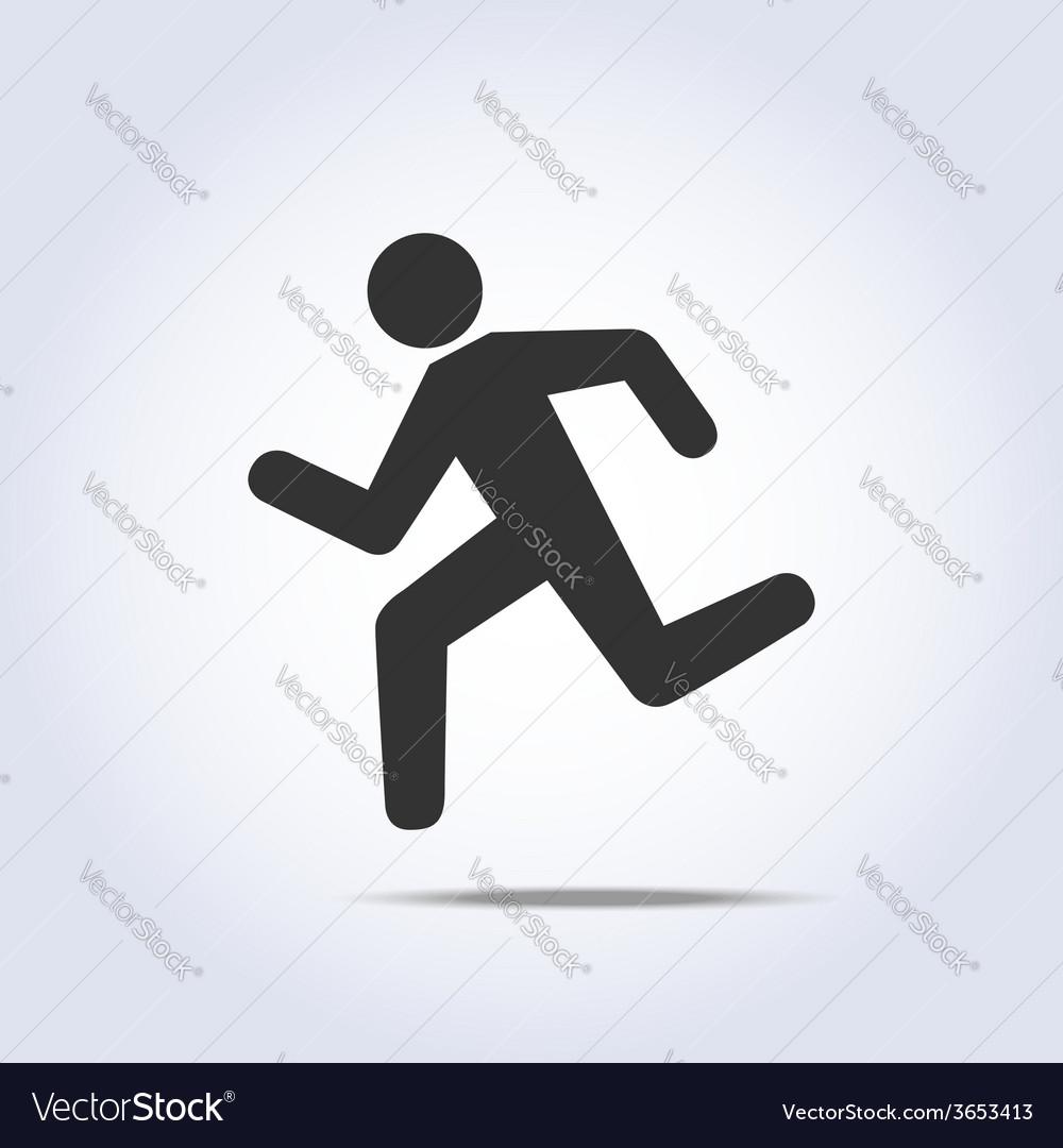 Running human icon vector | Price: 1 Credit (USD $1)