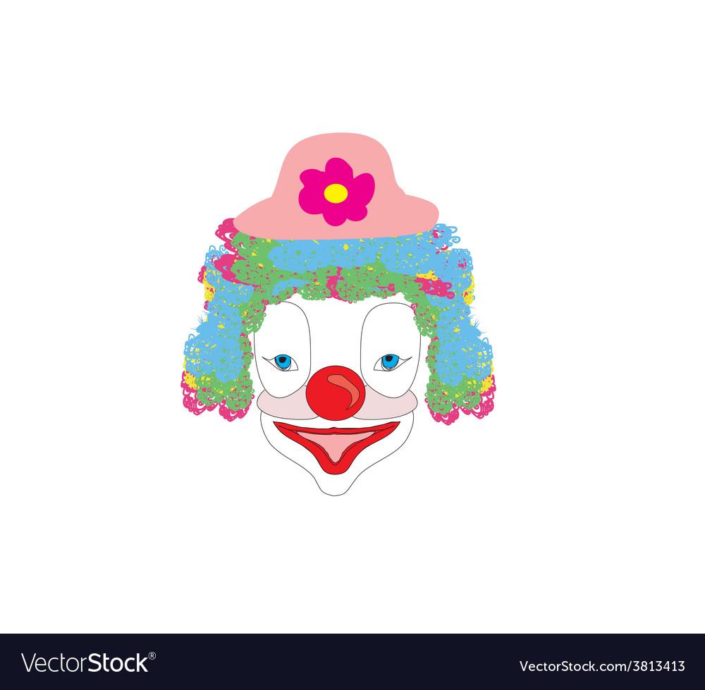 Smiling cartoon clown vector | Price: 1 Credit (USD $1)