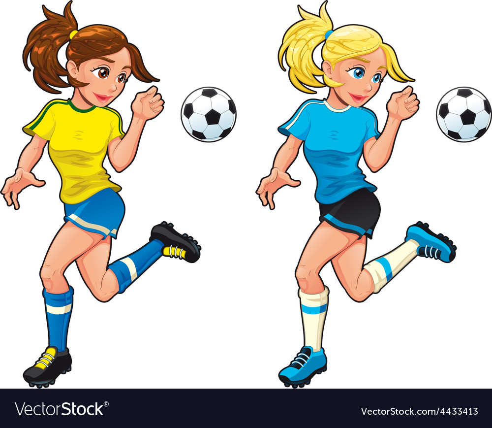Soccer female players vector   Price: 1 Credit (USD $1)