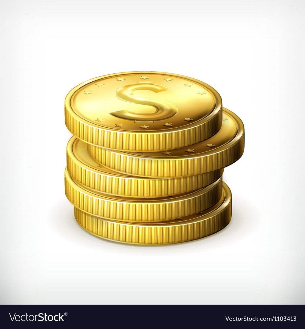 Stack of coins vector | Price: 1 Credit (USD $1)