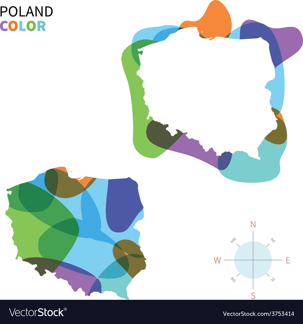 Abstract color map of poland vector | Price: 1 Credit (USD $1)