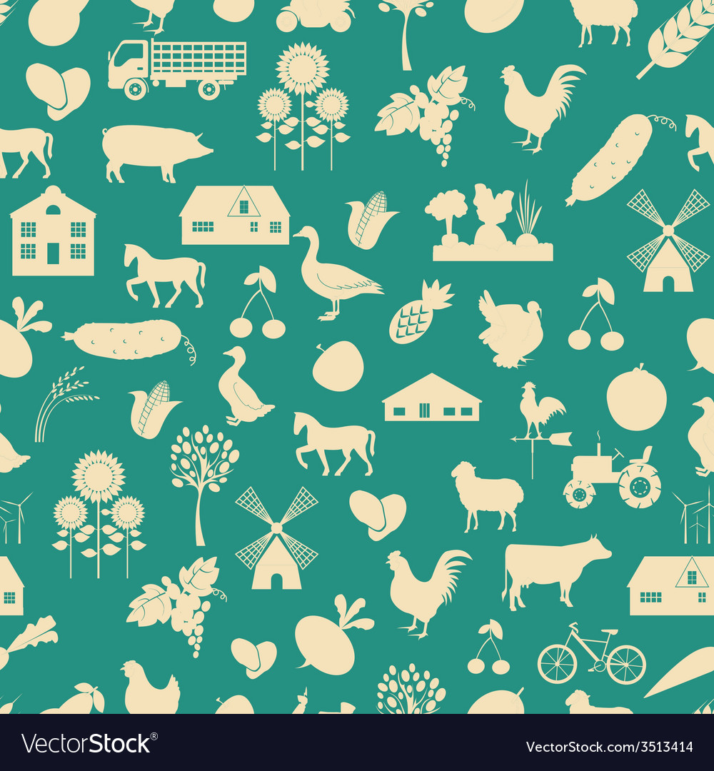 Agriculture background seamless vector | Price: 1 Credit (USD $1)