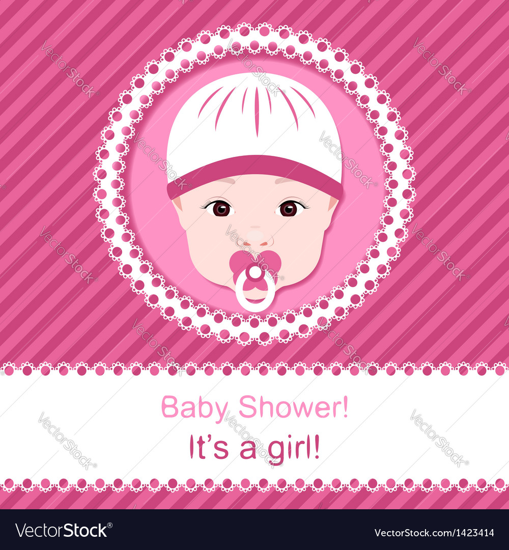 Baby girl shower vector | Price: 1 Credit (USD $1)
