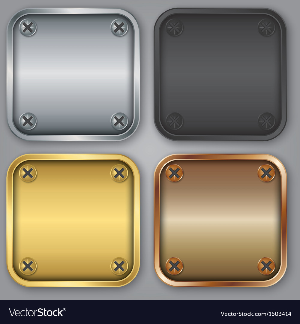 Blank app icons set vector   Price: 1 Credit (USD $1)
