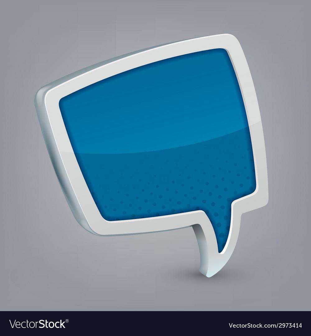 Blue cloud speech vector   Price: 1 Credit (USD $1)