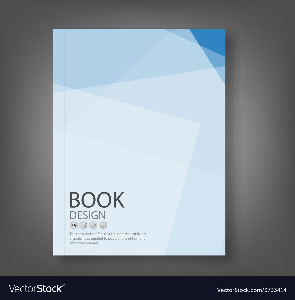 Cover report blue abstract background vector
