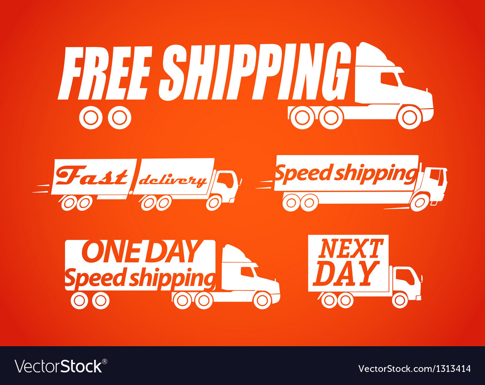 Delivery stickers vector | Price: 1 Credit (USD $1)