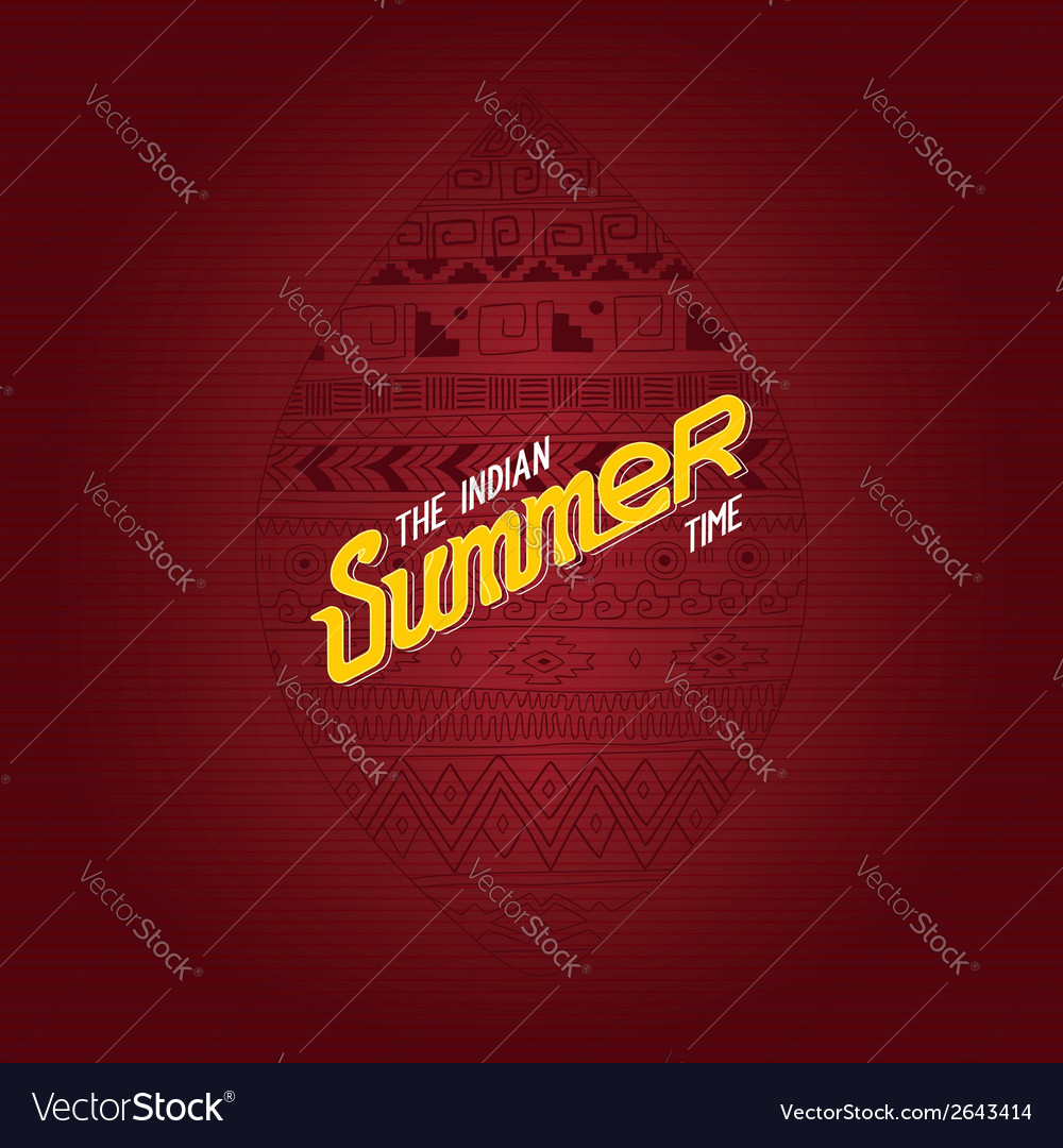 The indian summer time vector | Price: 1 Credit (USD $1)