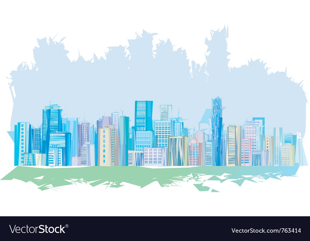 Pastel city vector | Price: 1 Credit (USD $1)