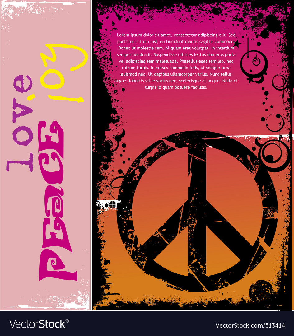 Peace background vector