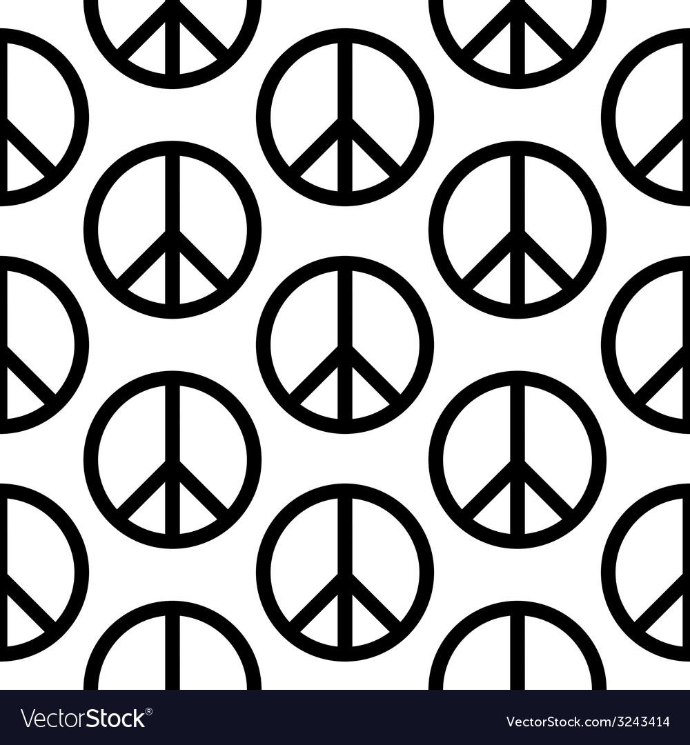Peace symbol seamless pattern vector | Price: 1 Credit (USD $1)