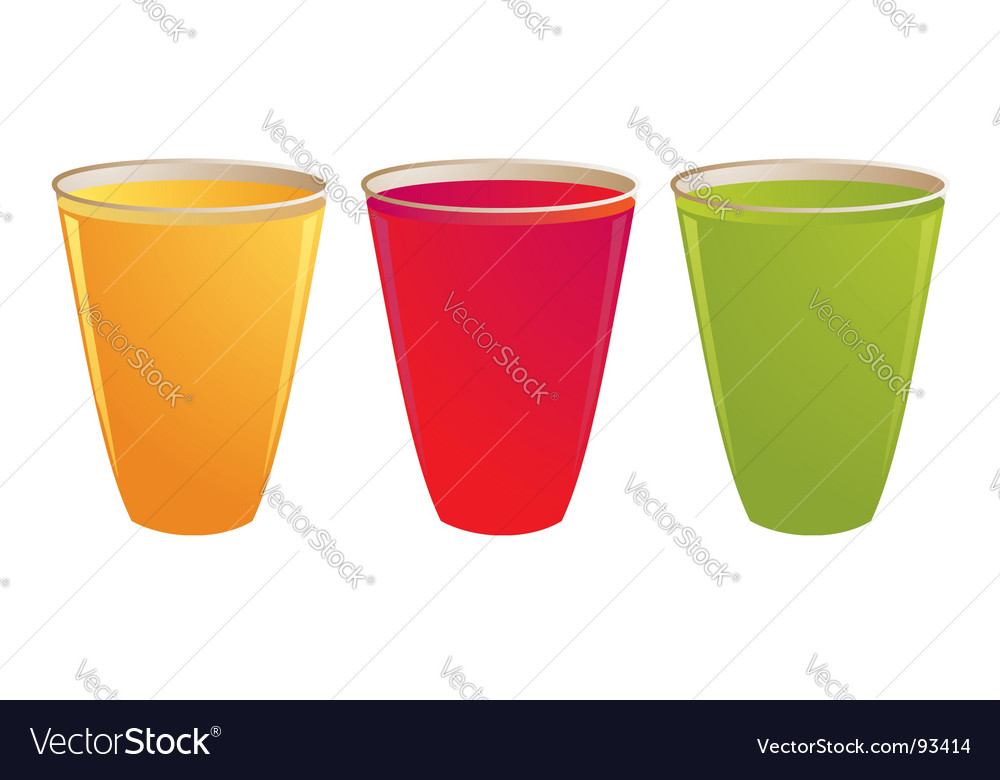 Plastic drink cups vector | Price: 1 Credit (USD $1)