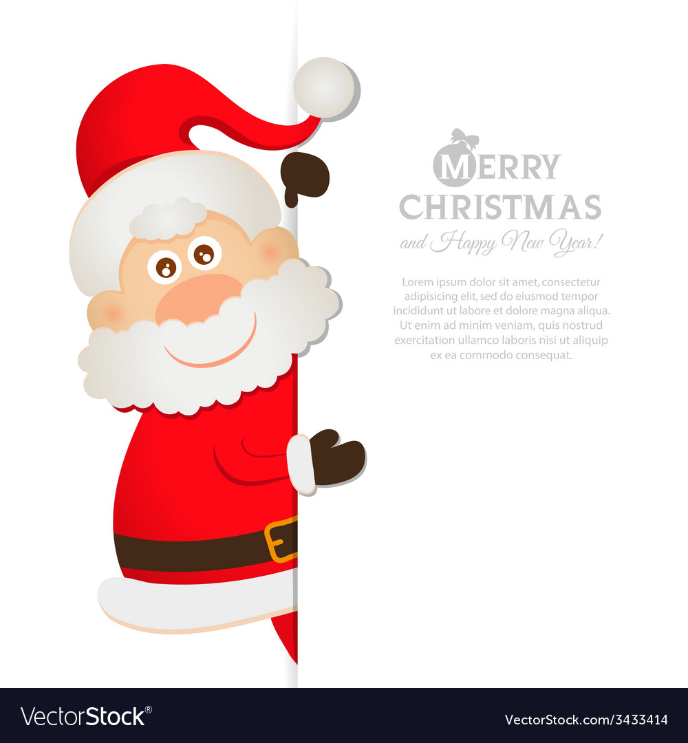 Postcard santa claus with space for text vector