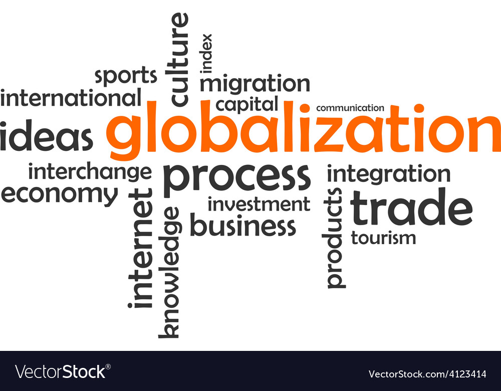 Word cloud globalization vector
