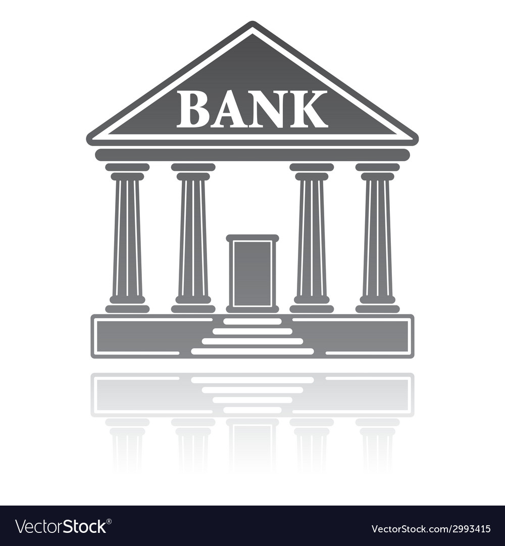 Bank building financial concept vector | Price: 1 Credit (USD $1)