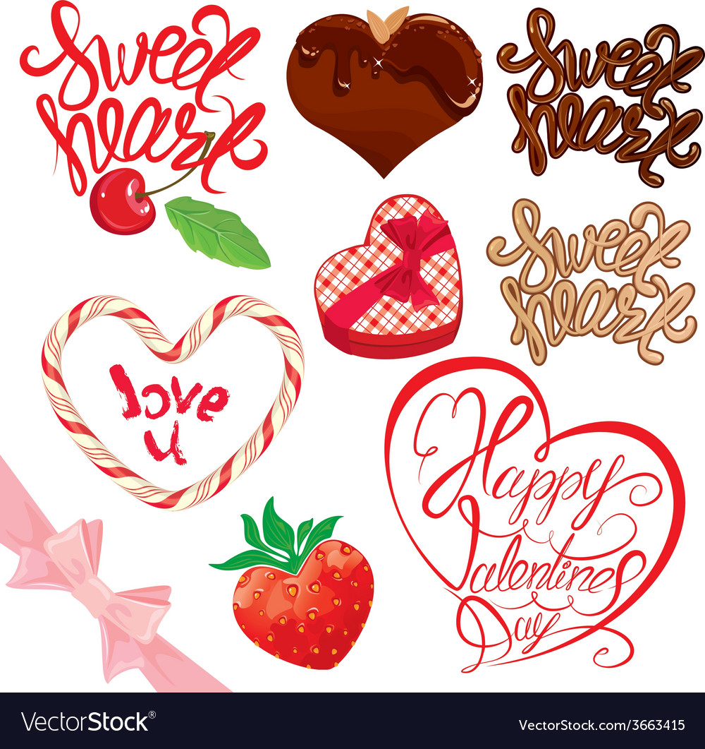 Calligraphy sweet set 380 vector | Price: 1 Credit (USD $1)