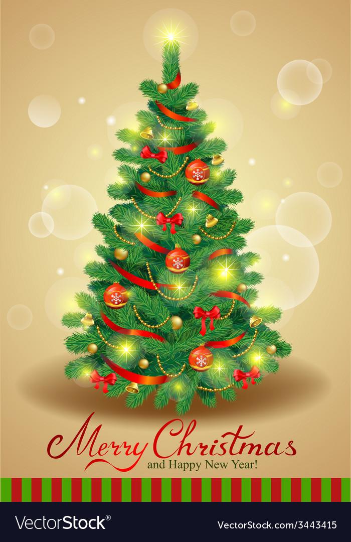 Classic christmas tree vector   Price: 1 Credit (USD $1)