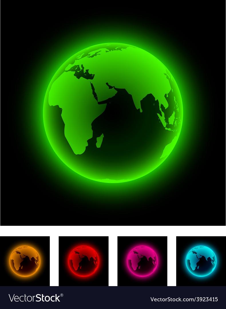 Neon earth vector   Price: 1 Credit (USD $1)