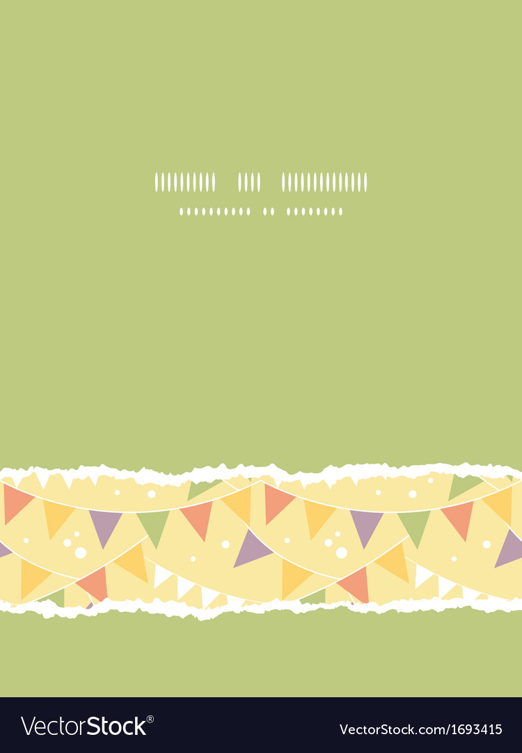 Party decorations bunting vertical torn seamless vector | Price: 1 Credit (USD $1)