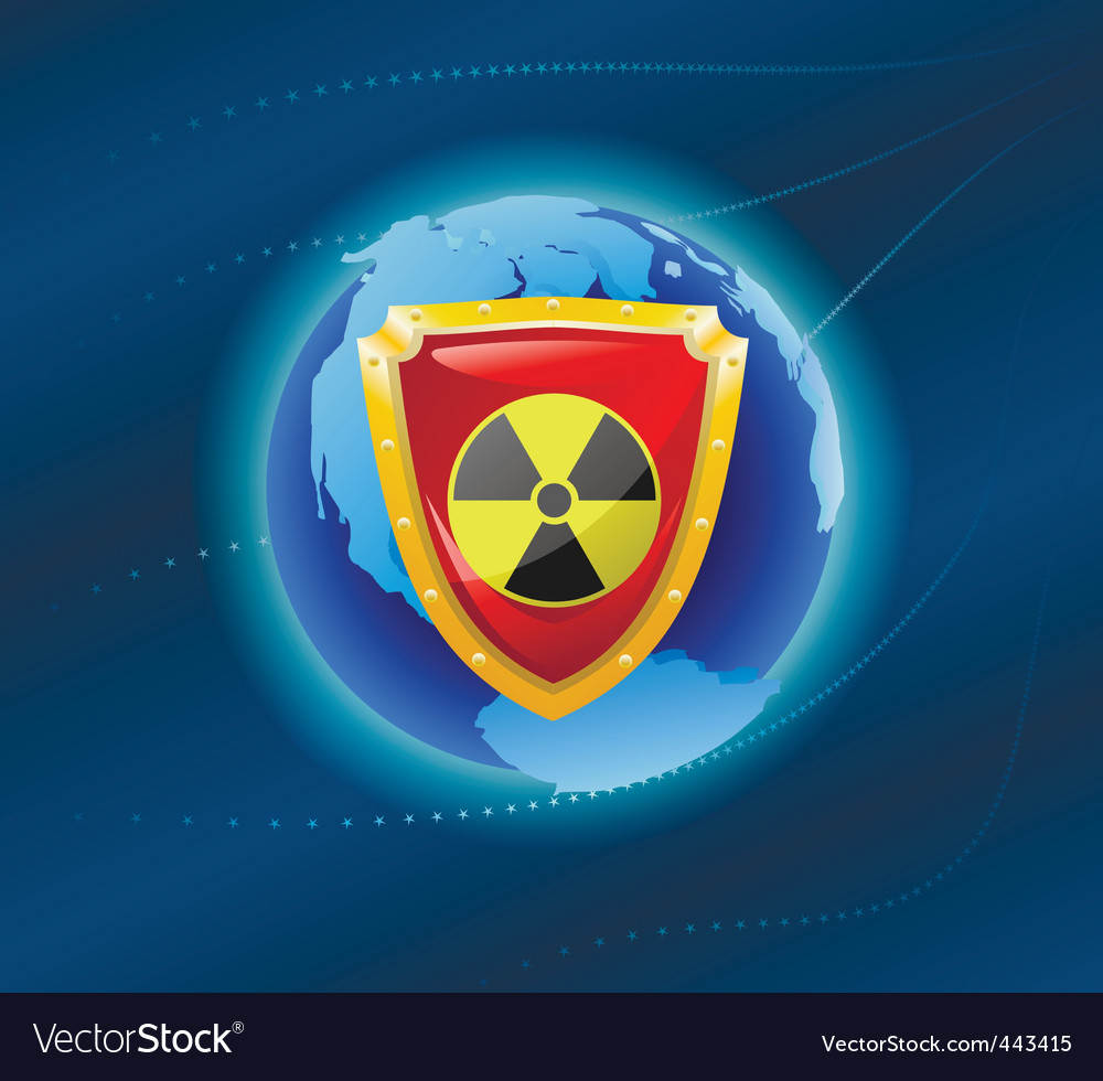 Radiation shield vector | Price: 1 Credit (USD $1)