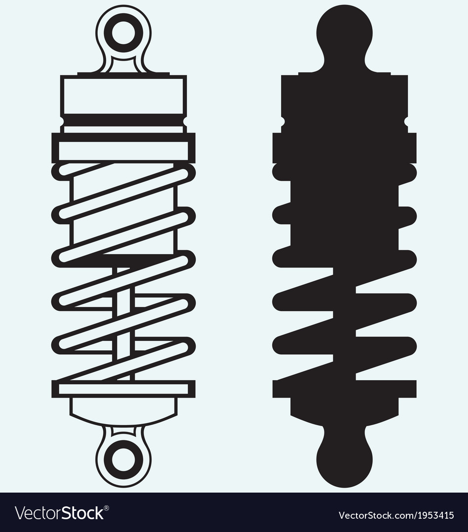 Shock absorber vector | Price: 1 Credit (USD $1)