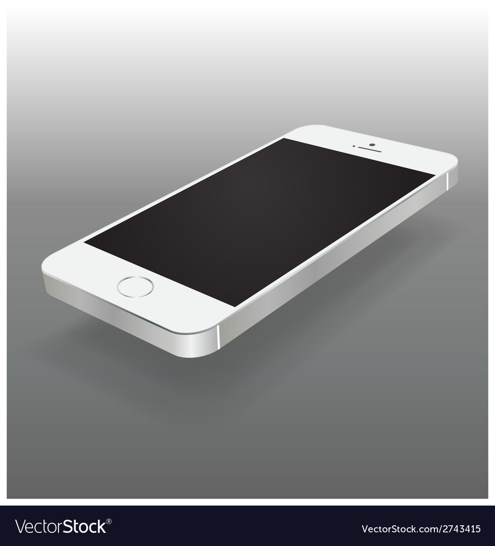 Smartphone perspective mock up vector | Price: 1 Credit (USD $1)