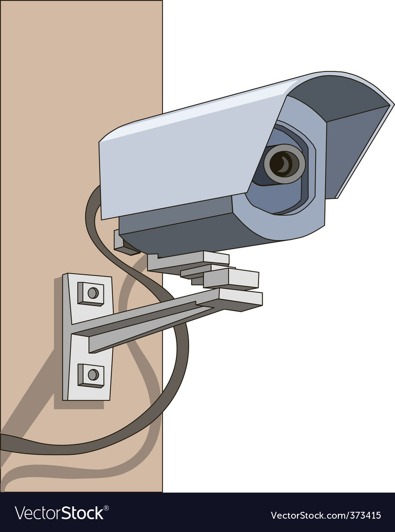 Surveillance camera vector | Price: 1 Credit (USD $1)