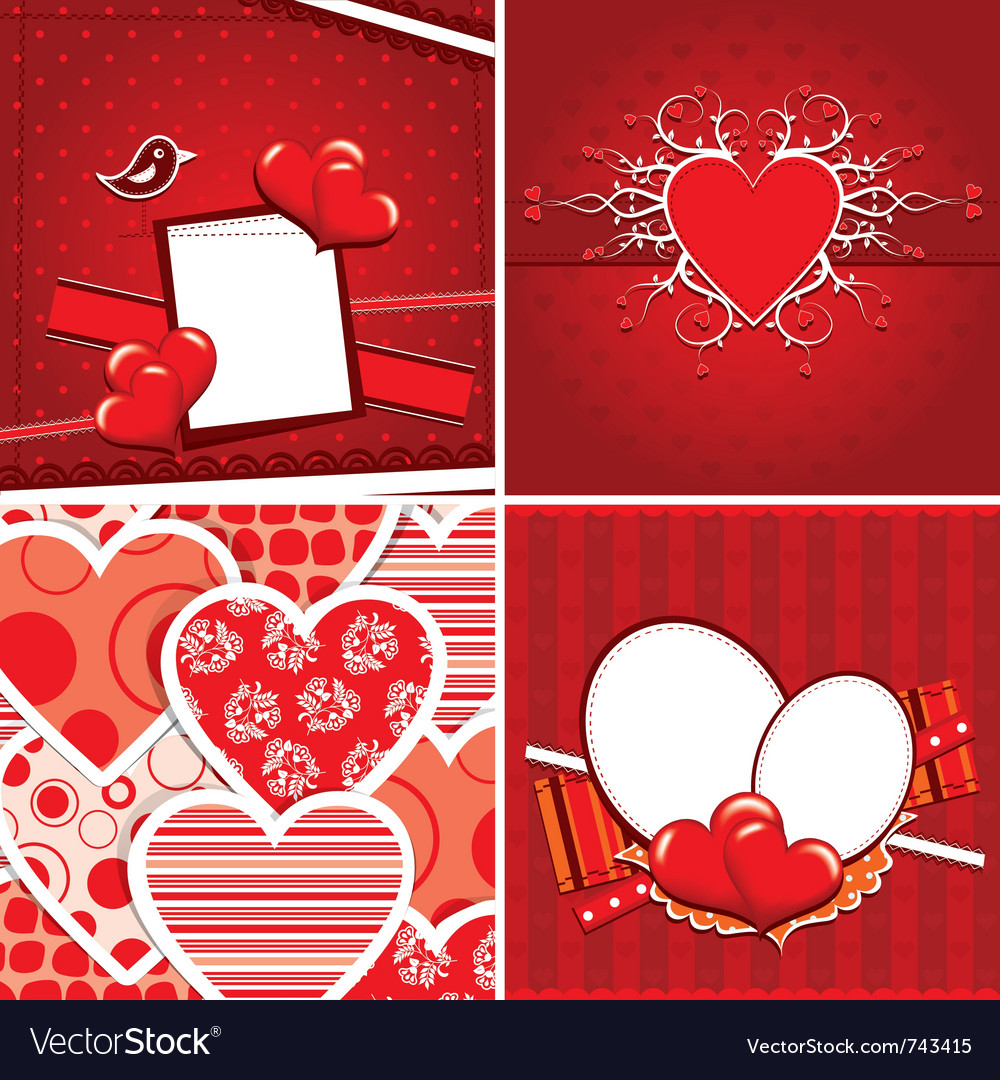 Valentine heart pattern vector | Price: 3 Credit (USD $3)