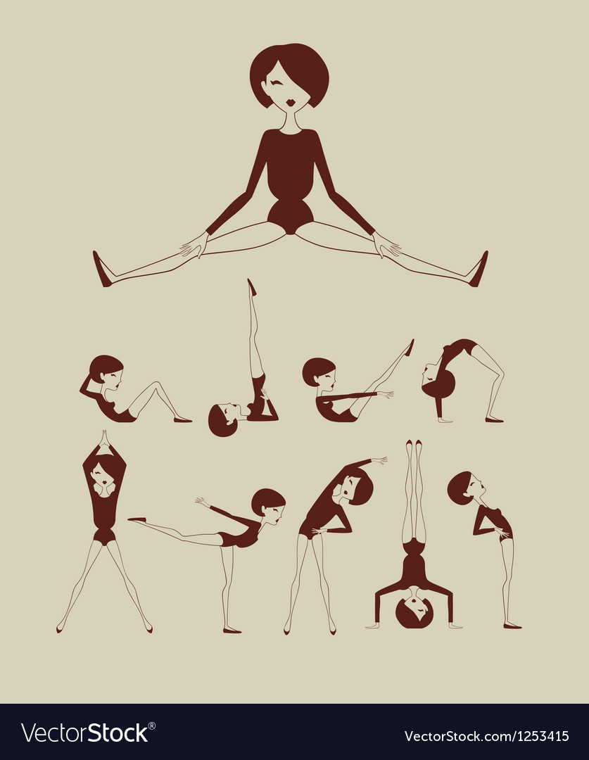 Woman doing exercises vector | Price: 3 Credit (USD $3)