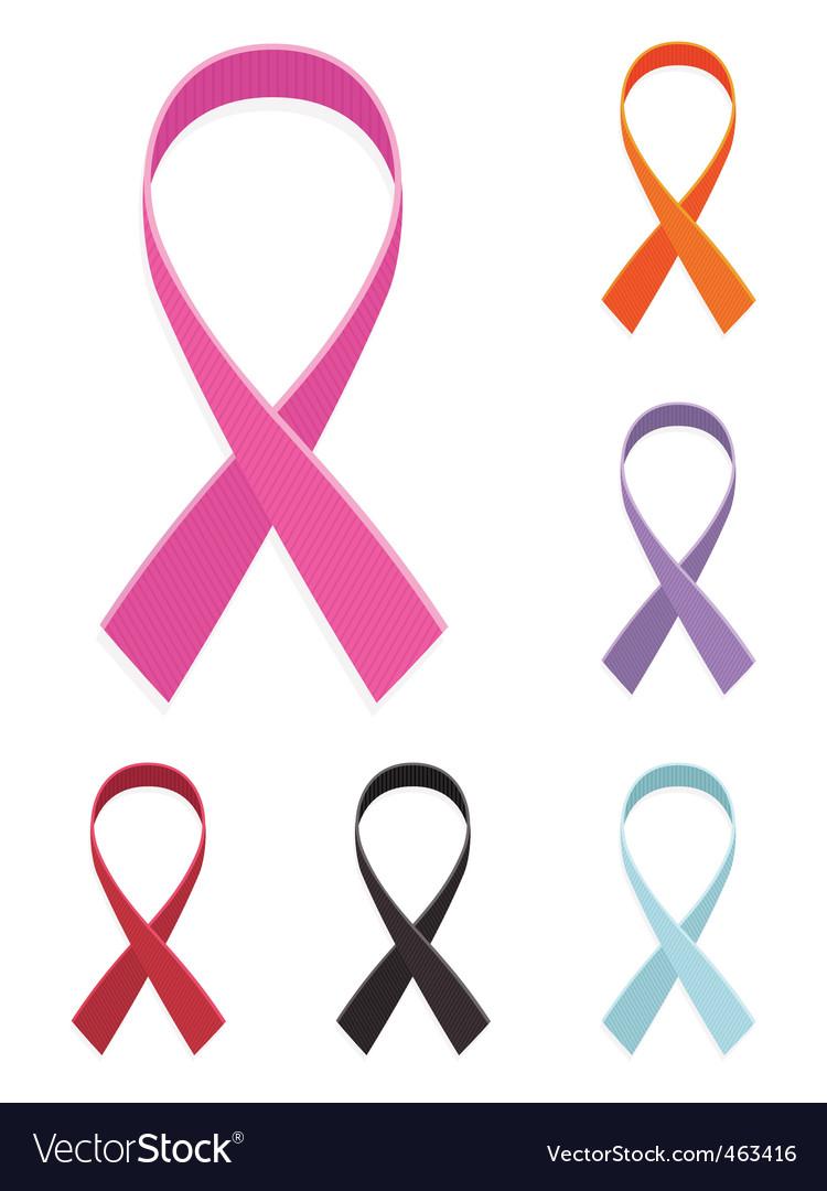 Awareness ribbons vector   Price: 1 Credit (USD $1)