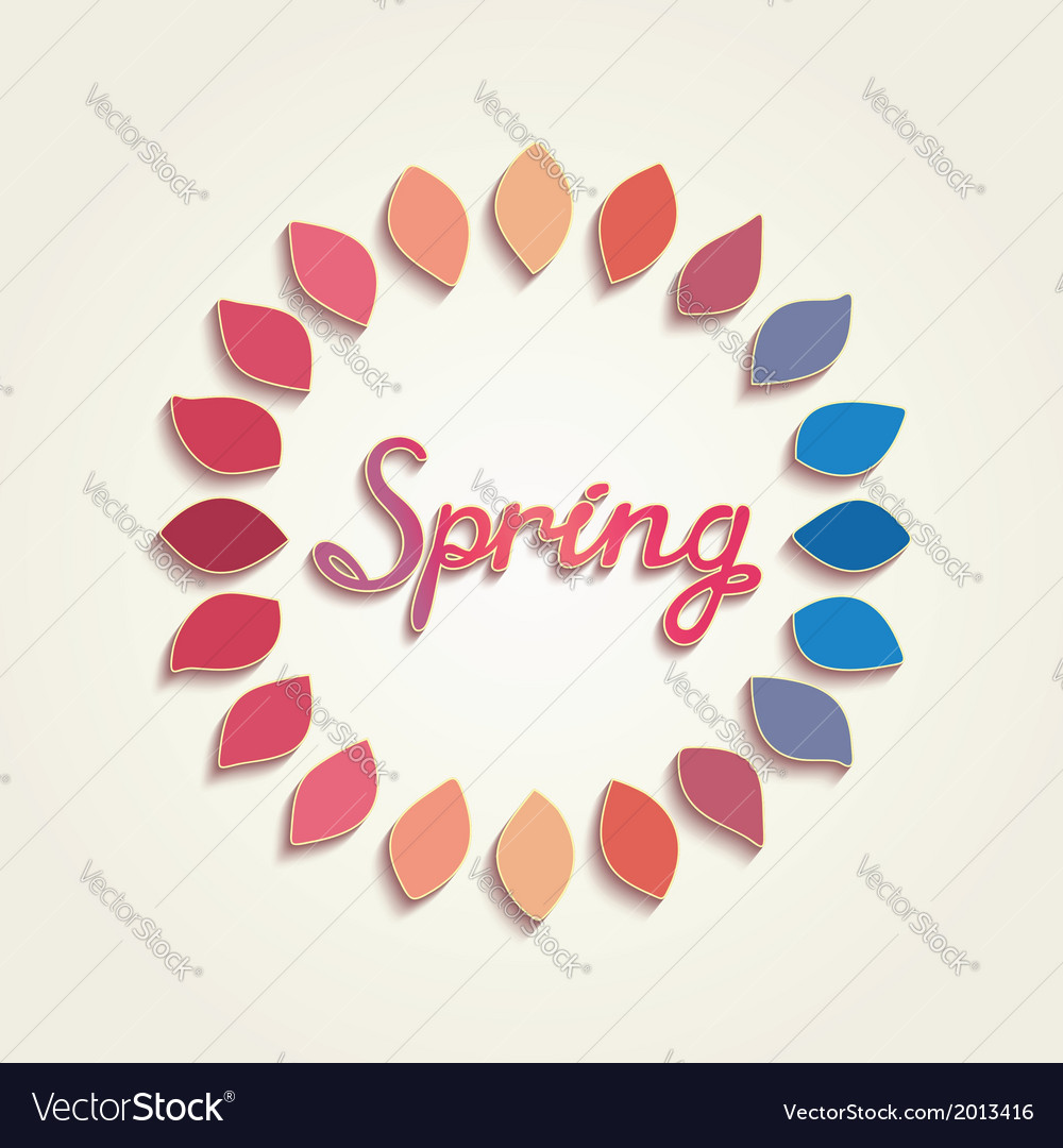 Creative spring card design vector | Price: 1 Credit (USD $1)