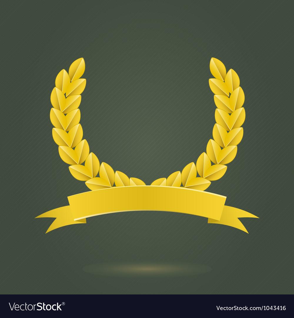 Golden laurel wreath vector | Price: 1 Credit (USD $1)