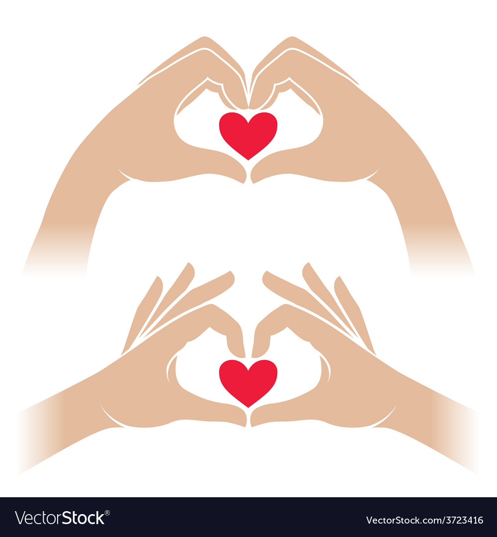 Hands with heart vector | Price: 1 Credit (USD $1)