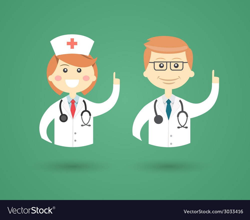 Professions - doctor and nurse vector | Price: 1 Credit (USD $1)