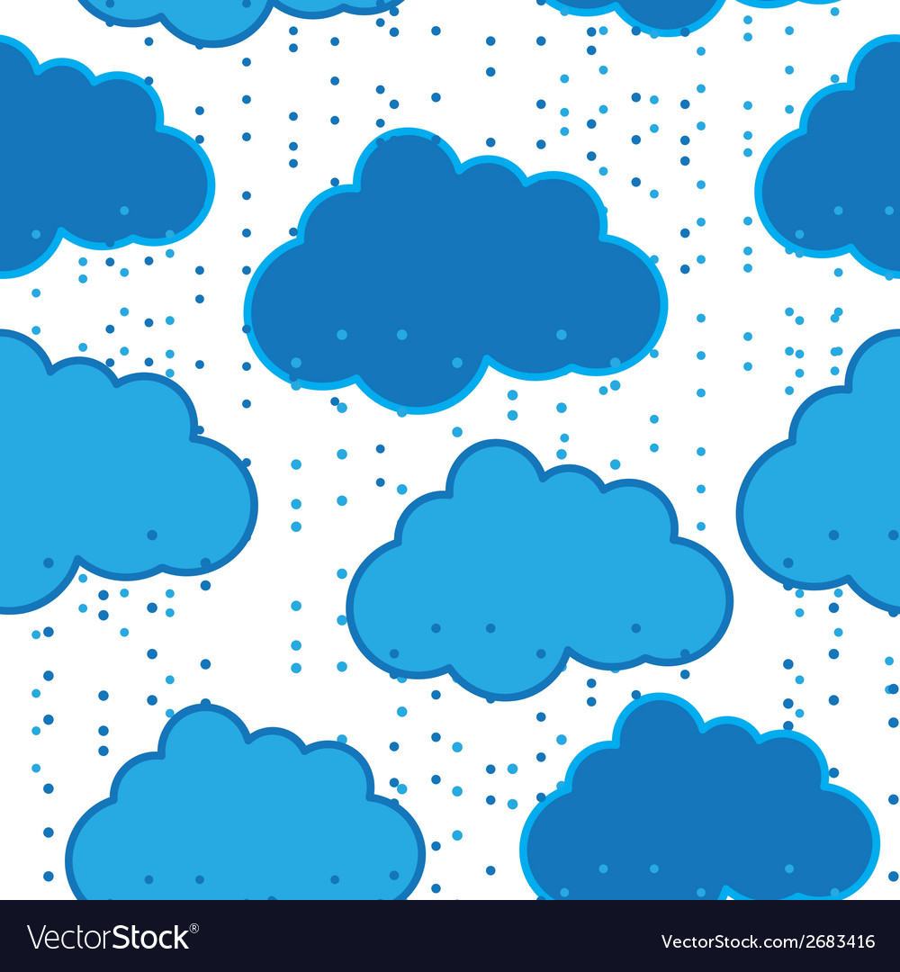 Rain clouds seamless background abstract vector | Price: 1 Credit (USD $1)