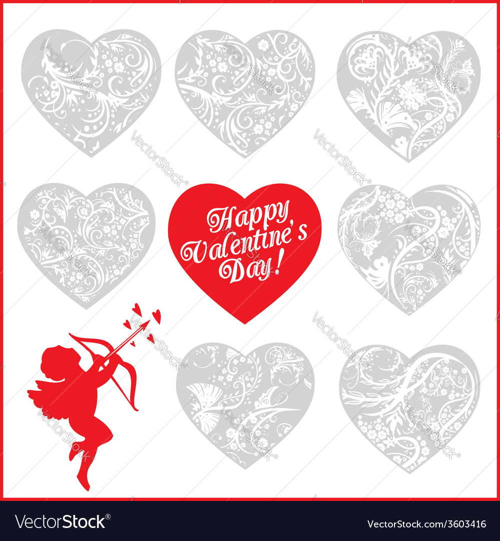 Red hearts - valentines day vector | Price: 1 Credit (USD $1)