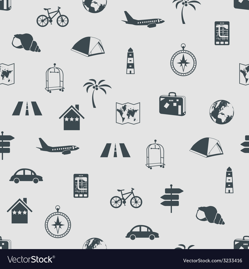 Seamless travel pattern vector | Price: 1 Credit (USD $1)