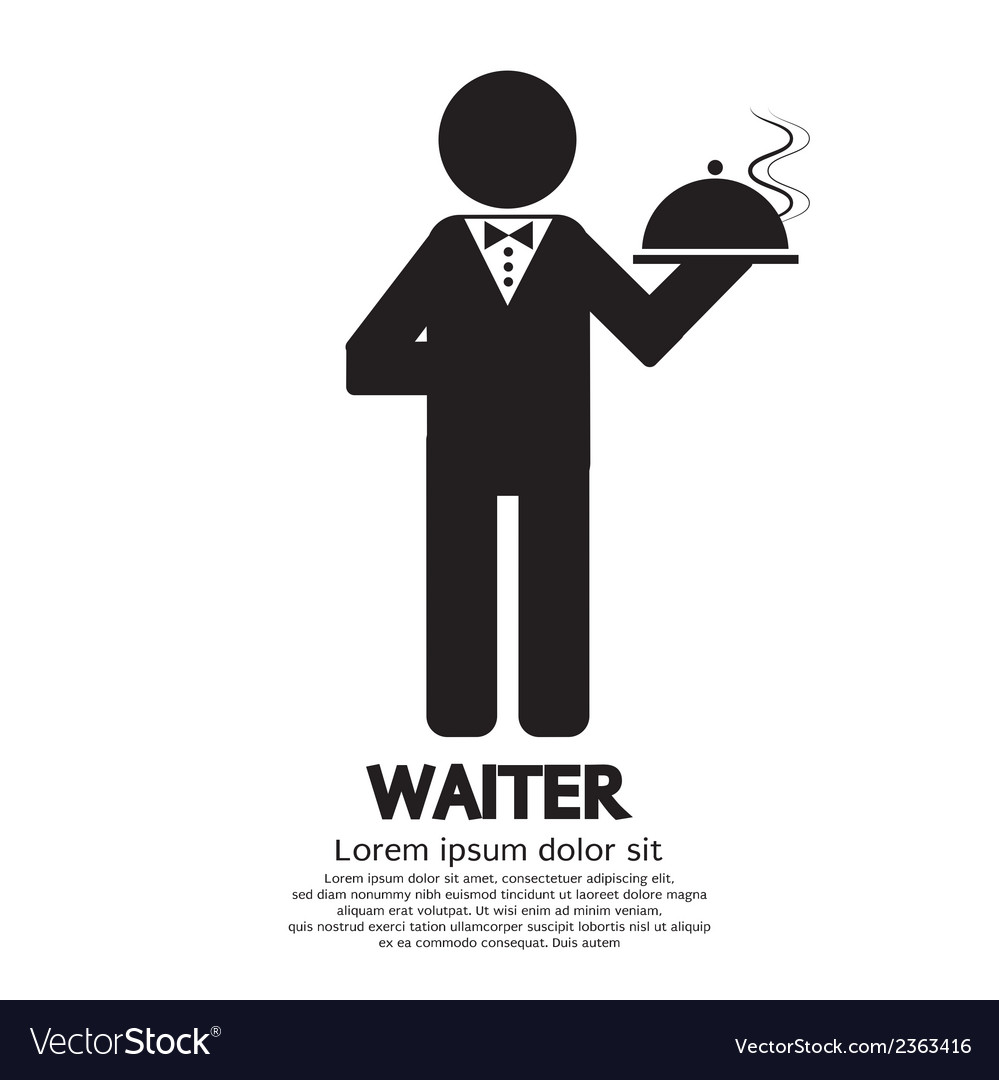 Waiter vector | Price: 1 Credit (USD $1)