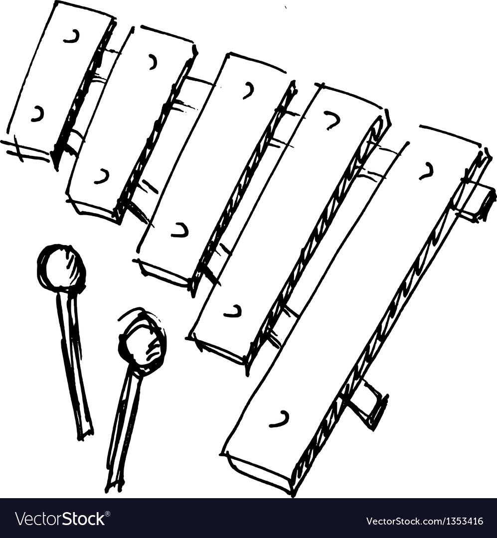 Xylophone vector | Price: 1 Credit (USD $1)